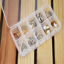 Good Quality 10 Grids Adjustable Jewelry Beads Pills Nail Art Tips Storage Box Case11.75(China (Mainland))