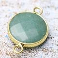 Semi precious Stone Pendant Jewelry Connector Brass Bezel Pendants and Necklace Making DIY M79001