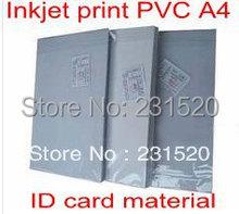 Cartão de IDENTIFICAÇÃO que faz fontes material Em Branco folhas de PVC de impressão a Jato de tinta A4 100 sets cor branca 0.76mm de espessura: 0.15mm + 0.46mm + 0.15mm(China (Mainland))