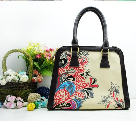 Ethnic fashion casual canvas bag female personality influx of new autumn and winter handbags brand handbags selling Chinese wind(China (Mainland))