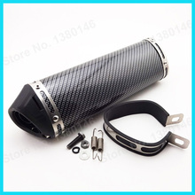 Exhaust Muffler Pipe 38mm With Removable Silencer for Dirt Bike/Pit Bike ATV Motorcycle Moped Scooter Motocross(China (Mainland))