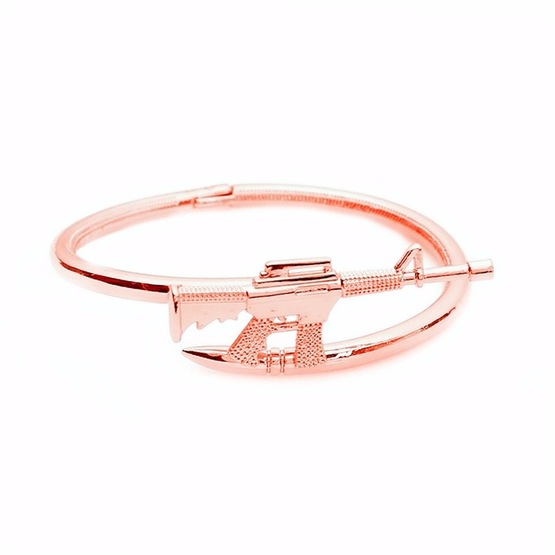 Hot gold plated Fashion AK47 bracelets bangles 316L Stainless Steel love Bracelet couple bangle gifts for women