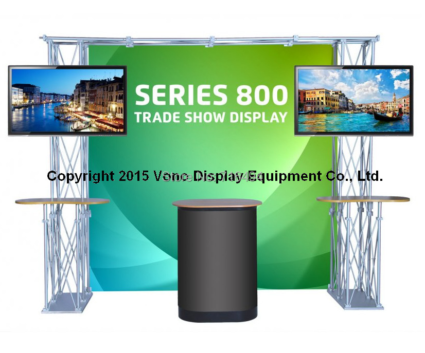 Trade Show Booth Equipment : Trade show truss booth with counters portable