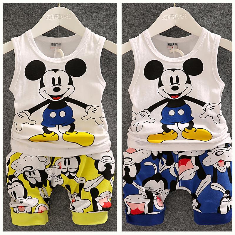 AliExpress.com Product - 2015 New Summer Baby Boy Clothing Set Sleeveless Shirt + Shorts Kid Boy Summer Set Mickey Children Boy Clothes Set Vest