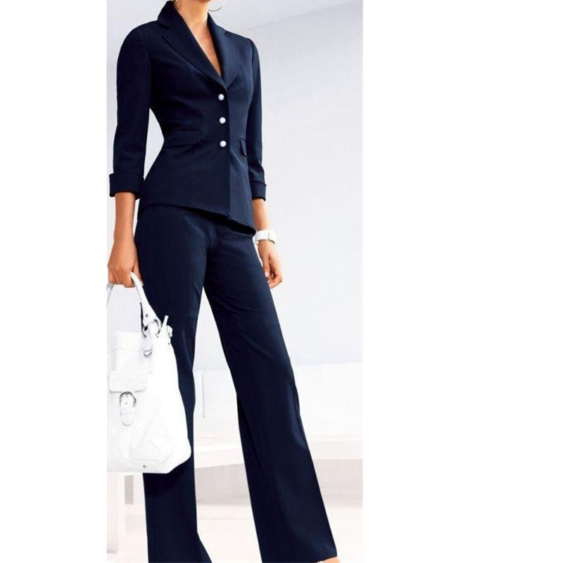 5-6  Custom Made Women's Formal Office Business Suits 2 Piece Jacket+Pants Tuxedos