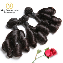 Aunty Funmi Hair Romance curl UK & Nigeria Double drawn virgin hair Natural black 100g /bundles short - Mayflower weaves wigs Official Store store