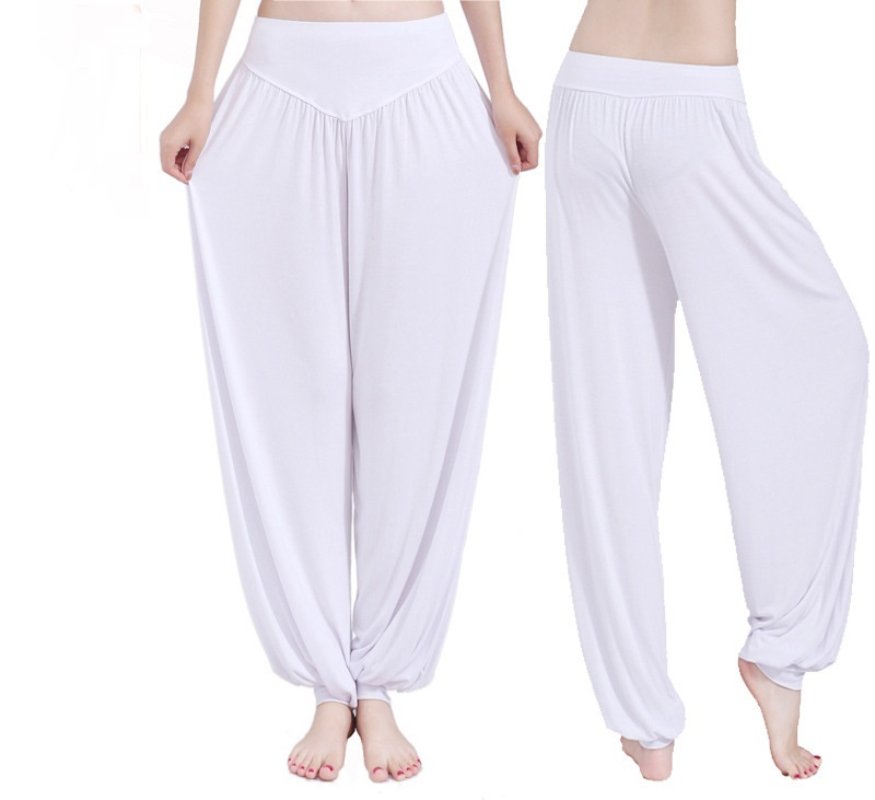 Women's Yoga Pants Loose Elastic Bloomers Dance Fitness Wide Leg Pants Long Harem Trousers Plus Sizes S-XXXL 9 Colors Available