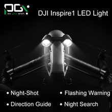 PGY DJI inspire 1 Accessories headlamp Super Brigh LED light Searchlight Drone Flash Lights Warning drone FPV Quadcopter Kit