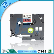 6mm black on red tze 411 tze-411 tape compatible ptouch label printer