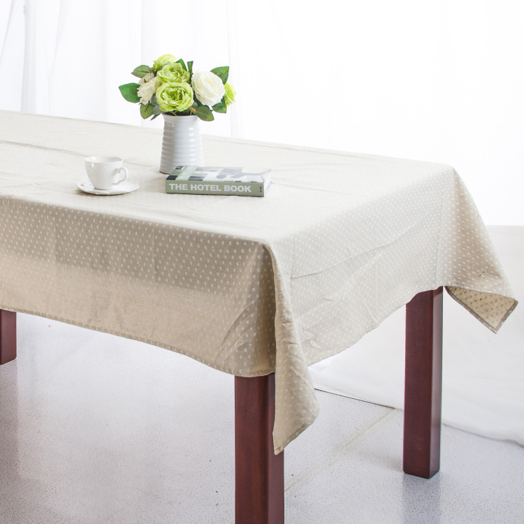 Linen Table Cloth Wave Point Print High Quality Tablecloth Table Cover manteles para mesa Free Shipping(China (Mainland))