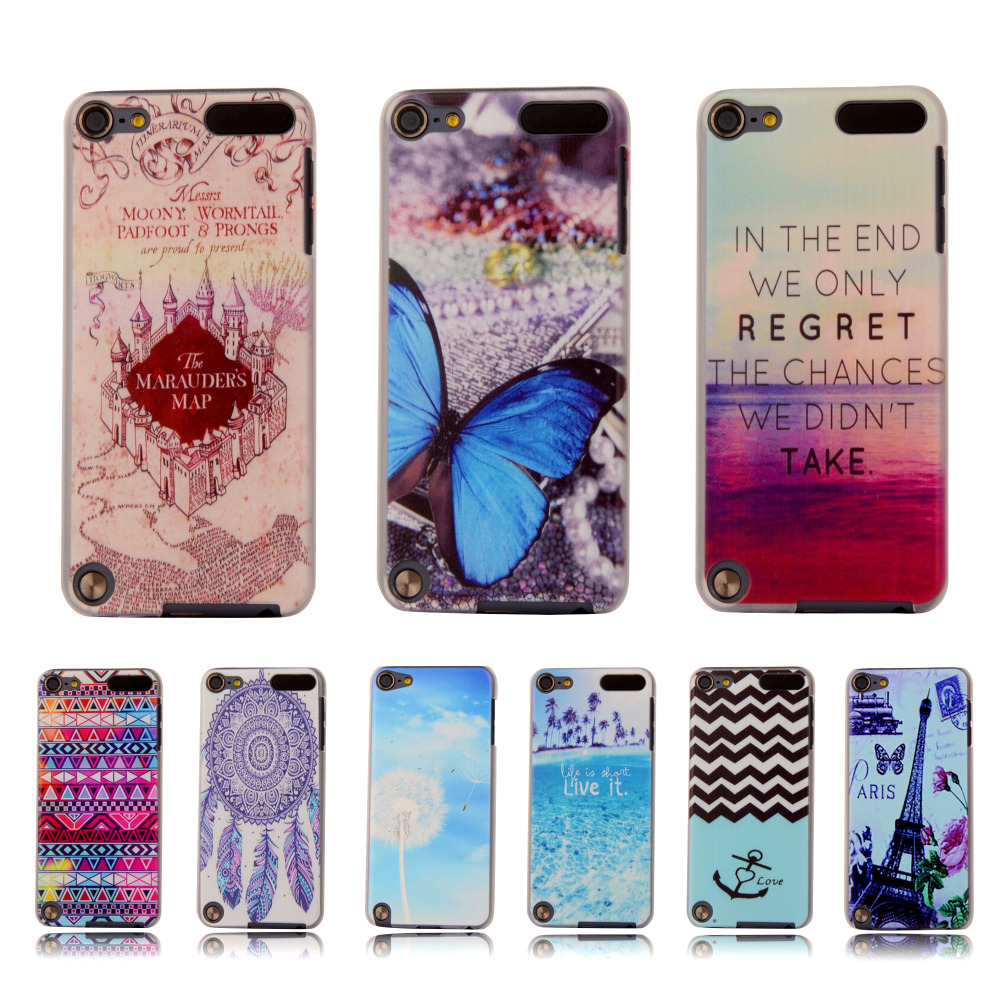 """Ultra Thin Cartoon Hard Cover For Apple ipod Touch 5 5th Touch 6 4.0"""" Case Colorful Printing Plastic Back Protective Phone Case(China (Mainland))"""