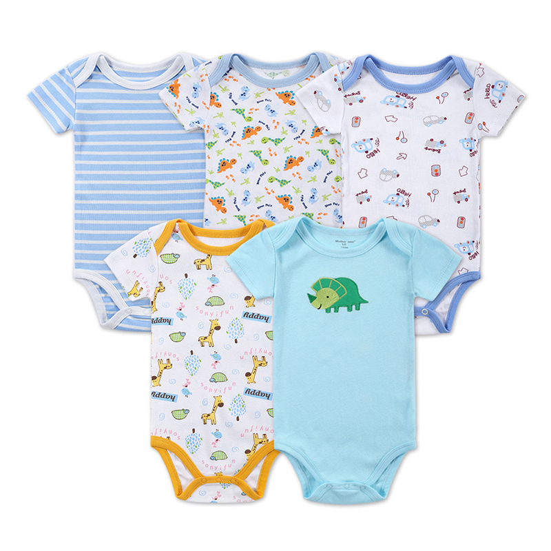 2016 New arrival 5 pieces/lot Baby Clothing Newborn Body Baby Rompers Triangle Cotton Jumpsuit Mother Nest Infant Baby Clothes(China (Mainland))