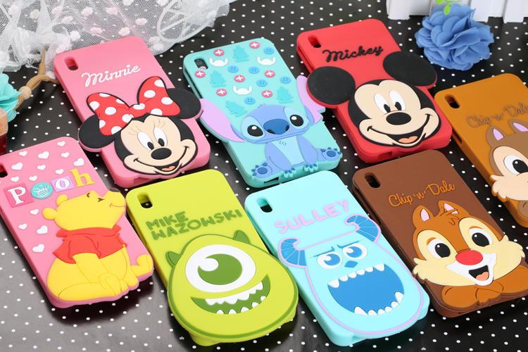 ! New Cartoon Cute Mickey Minnie Winnie Squirrel Silicone Rubber Back Cover Phone Case HTC Desire 816 - T-WELL INC. store