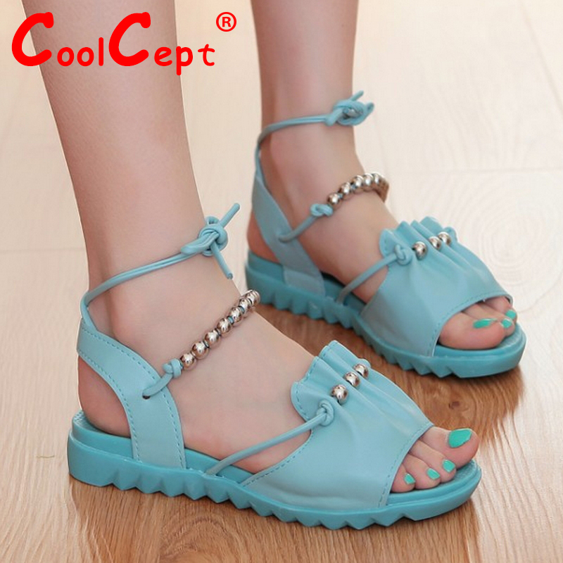 CooLcept free shipping quality flat sandals women sexy fashion lady female shoes P14614 hot sale EUR size 35-39<br><br>Aliexpress