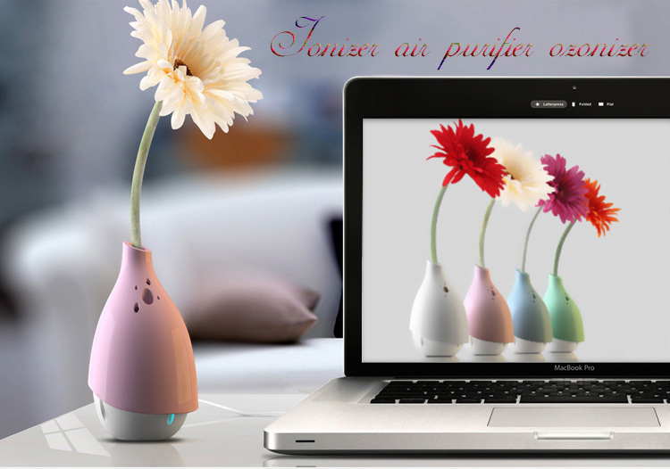 USB Air Purifier Air Cleaner Mini Humidifier Office Practical Gift Dusting Sterilize Portable Vase USB Household Air Humidifier(China (Mainland))