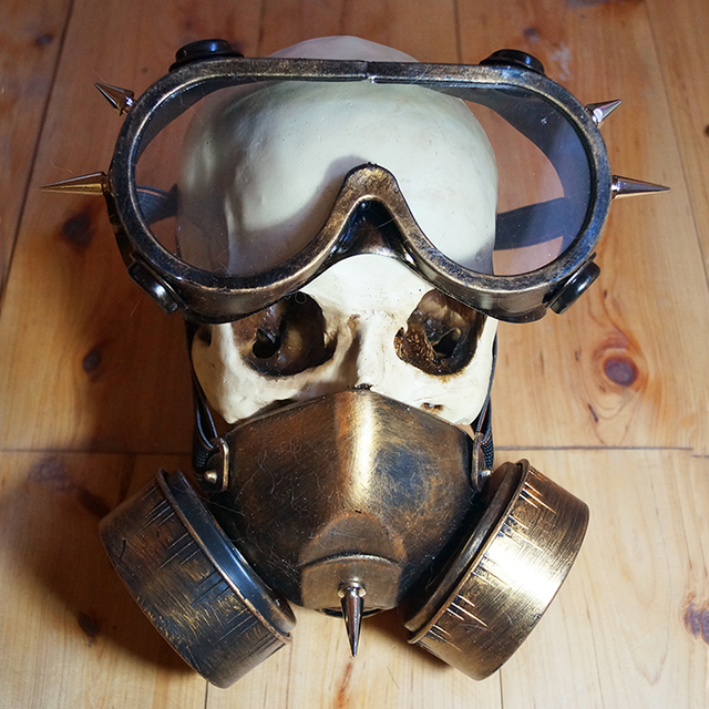 Steampunk Cyber Gothic Goth Party Mask+Goggles FREE SHIPPING