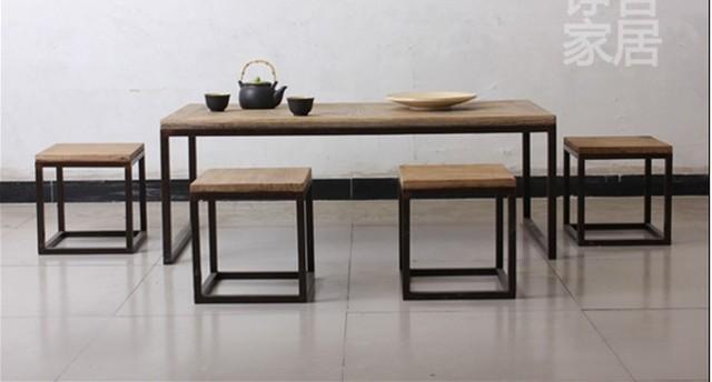 Nouveau mobilier design, Forgé table basse de fer mode rectangulaire simple t -> Mode Table Salon