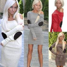 Женщины леди Bodycon сексуальная о длинным рукавом мода элегантный свободного покроя шикарные сексуальные свободного покроя моде сладкий мини-платье(China (Mainland))