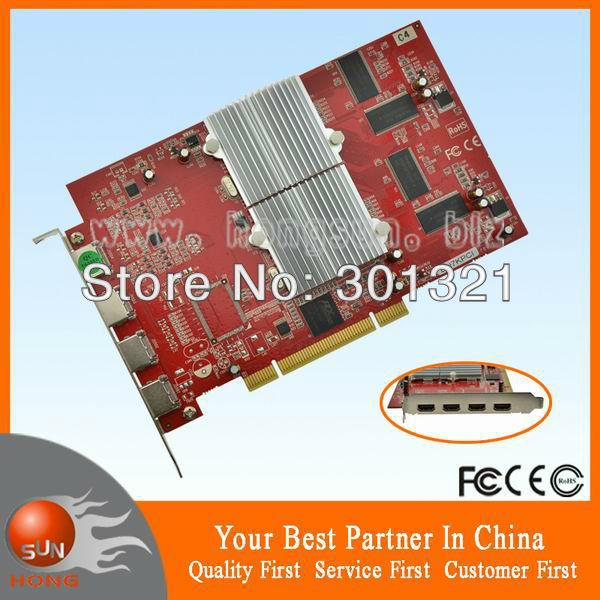 100% New Multi-screen display card ATI Radeon 7000 Dual GPU 64M PCI Video graphic card 4 HDMI output ports support 4 monitors<br><br>Aliexpress