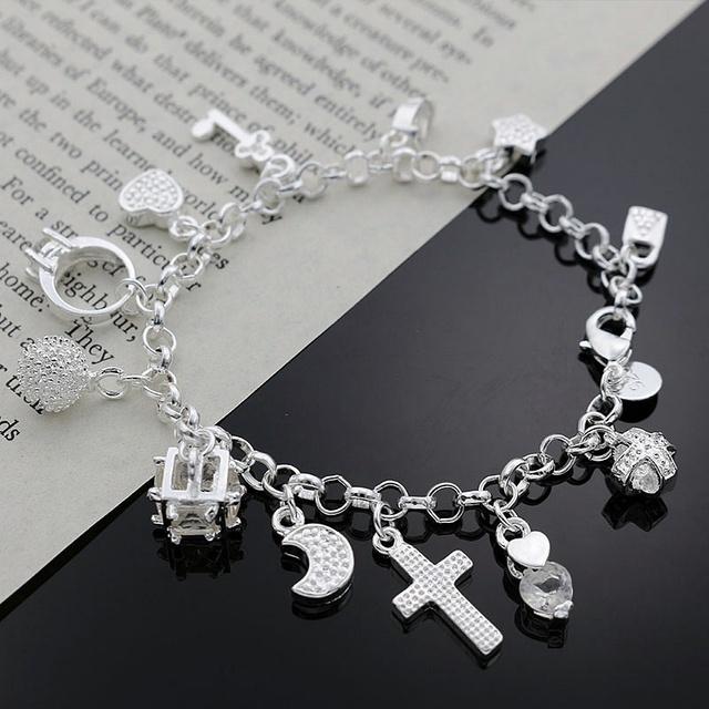 День святого валентина подарки 2016 новый горячий серебряный кристалл браслет в форме ...