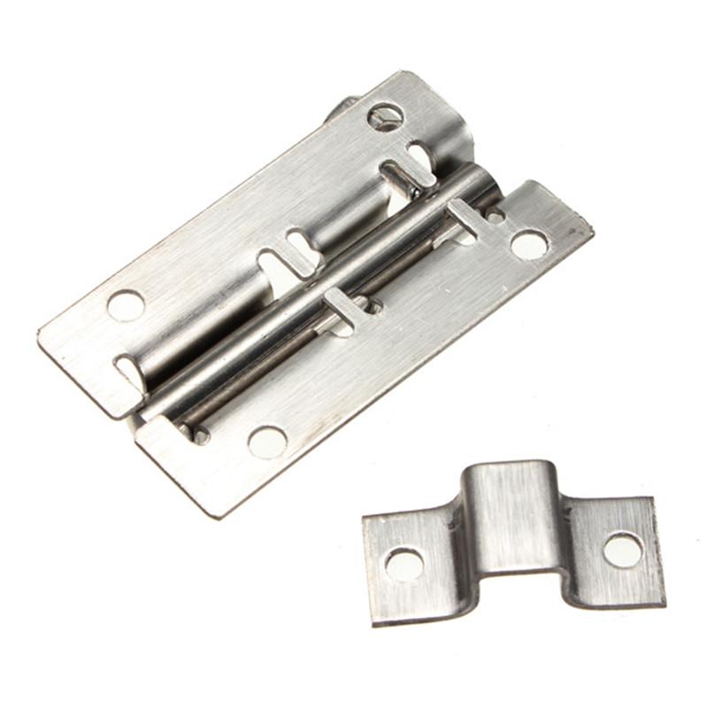 Newest 50mm Stainless Steel Door Latch Barrel Bolt Latch Hasp Stapler Gate Lock Safety 6 Size 35/50/75/100/125mm(China (Mainland))