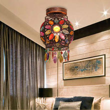 Retro Fashion Creative Personality Wrought Iron Acrylic Colorful Ceiling Lamp Cafe Art Decoration Lights YSL0834 Free Shipping(China (Mainland))