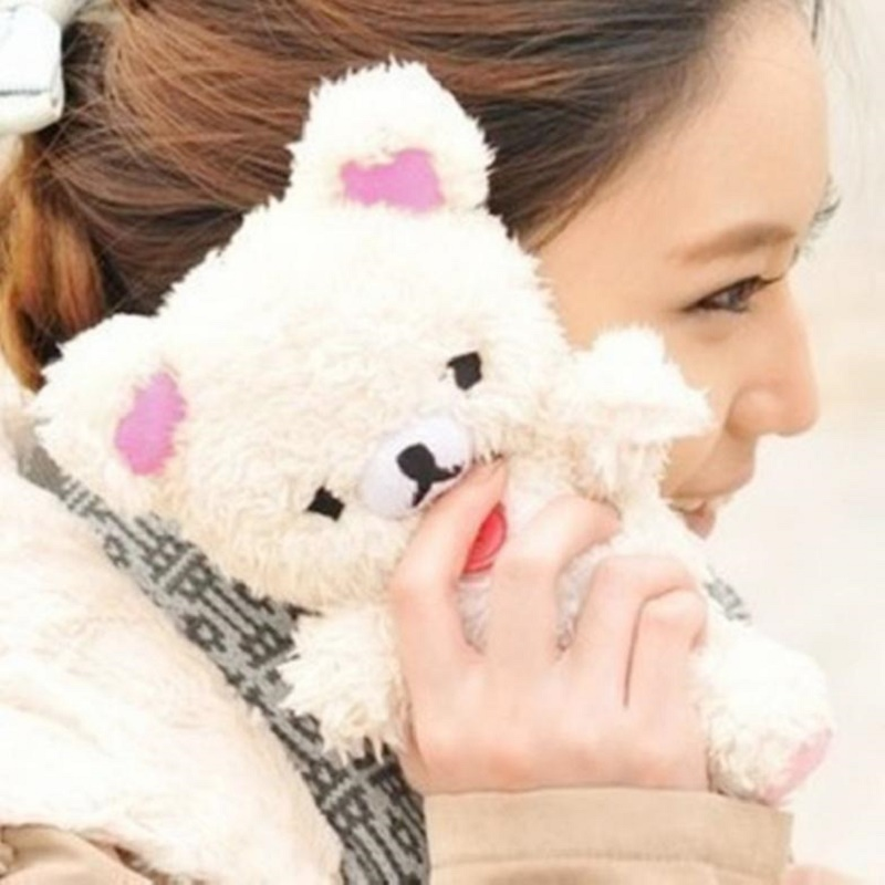 Cute 3D Teddy Bear Doll Toy Plush Warm Winter Cell Phone Case For Iphone 7 7 plus cell Phones Doll Bear Phone Cases Kid's Gift(China (Mainland))