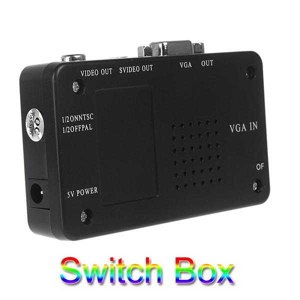 Hot Sale 2015 New Universal VGA to TV AV RCA signal adapter usb pc to tv video converter ntsc pal switcher free shipping(China (Mainland))