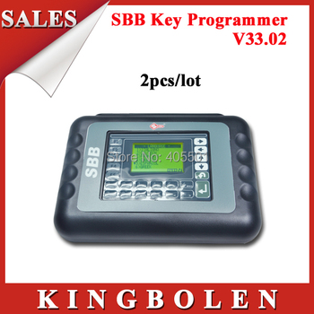 [2pcs/lot]High Quality Universal Auto Key Programmer SBB V33.02 Key Maker 9 Languages SBB Key Programmer DHL Free Shipping