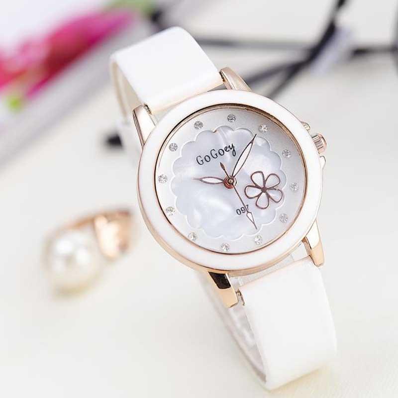 Fashion Women Leather Strap Ladies Watch Luxury Brand Quartz Wrist Watch montre femme(China (Mainland))