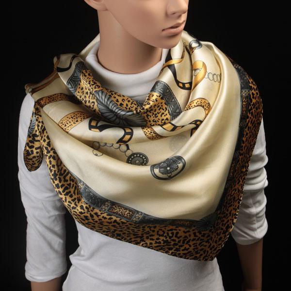 90 см * 90 см Высокое качество шелковый шарф женщины дамы шаль кашемира бахромой ...
