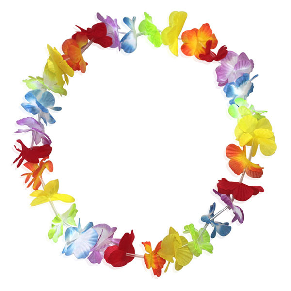 50pcs/lot Party Supplies Wedding Christmas Party Decoration Artificial Flowers Hawaiian Flower Lei Wreath Cheerleading HH0039