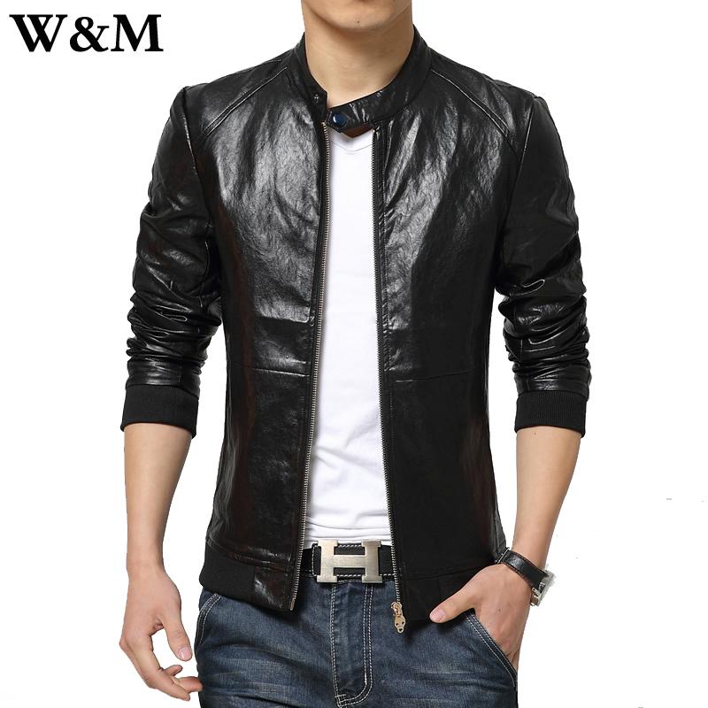 [W&M]Fashion Men Leather Jacket 2015 Spring England Style ...