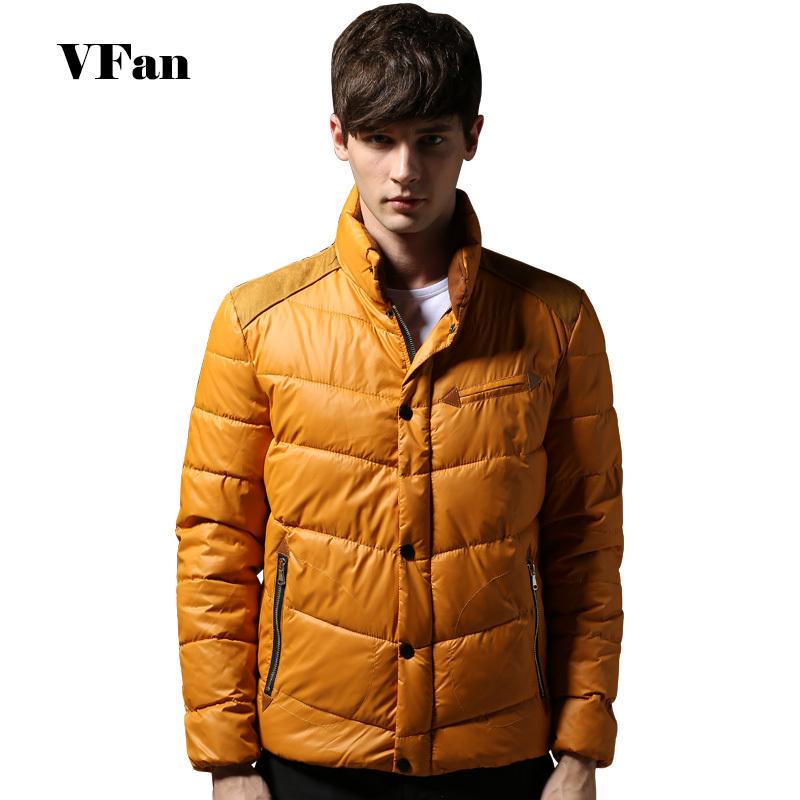 Solid Color Men Down Coat Casual Thicken Winter New Arrival Men Clothes Standing Collar Zipper Down
