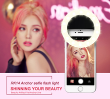 Buy Fashion Rechargeable selfie ring light RK-14 Clip LED selfie flash light adjustable lamp selife fill-light RK14 Smart phones for $7.93 in AliExpress store