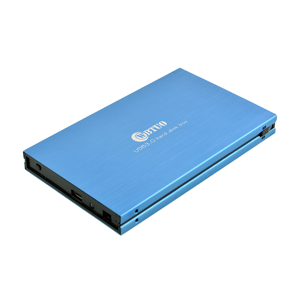 "BLUE USB 3.0 SuperSpeed SATA HD HDD External Hard Drive Case Enclosure 2.5 inch 2.5"" Disk HDD Enclosure(China (Mainland))"