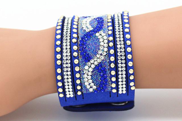 Этнические широкий браслет роковой смолаы кристалл манжеты браслеты для женщин мужчин ...