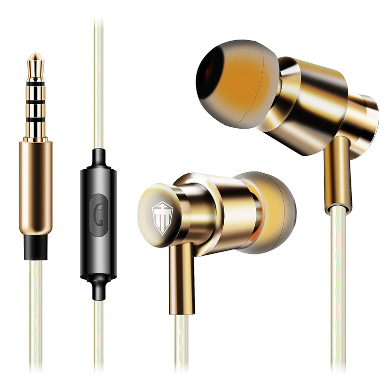 Cosonic W6 Metal super Bass In ear Earphones 10MM sound unit HD HIFI with Mic earbuds Headset for phone computer(China (Mainland))