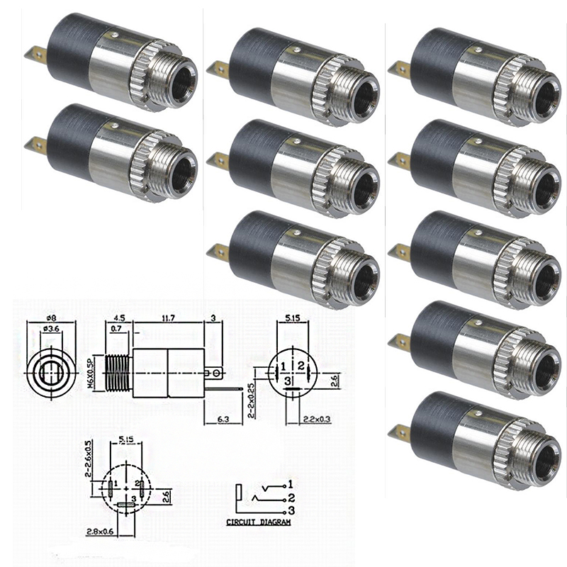 """3.5mm Stereo Y Splitter Audio Adapter 2 10 Pack Lot Female 1//8/"""" Male to"""