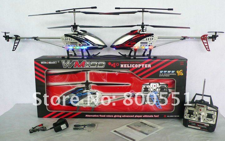 large 3ch RC helicopter w/gyro, alloy structure, high quality helicopter! WM-F3D198, crash resistant!(China (Mainland))