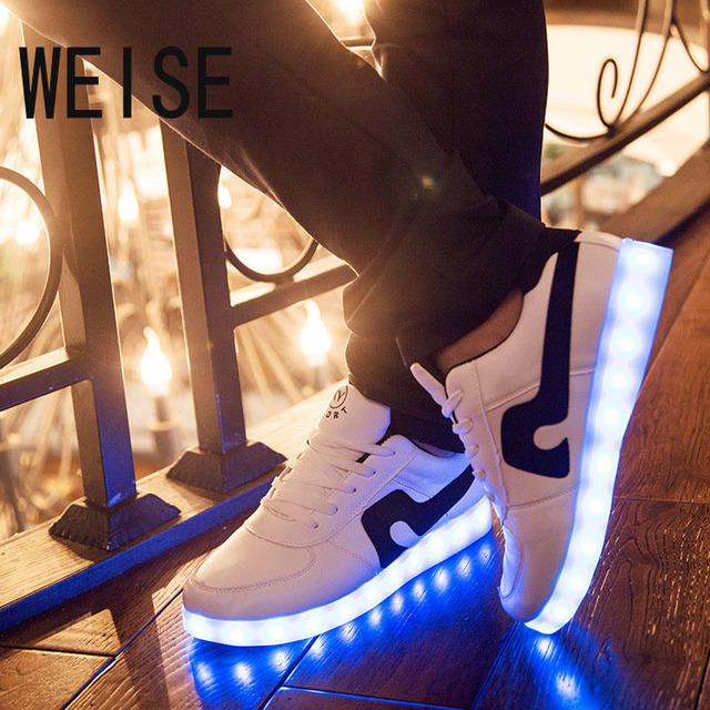 2016 женщины красочные светящиеся обувь с загорается из светодиодов световой обуви ...
