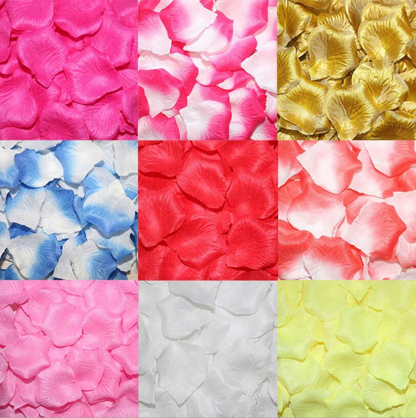100 piece Silk Artificial Rose Flower Petals Wedding Aniversario Party Supplies Mariage Decoration Accessories Decor boda(China (Mainland))