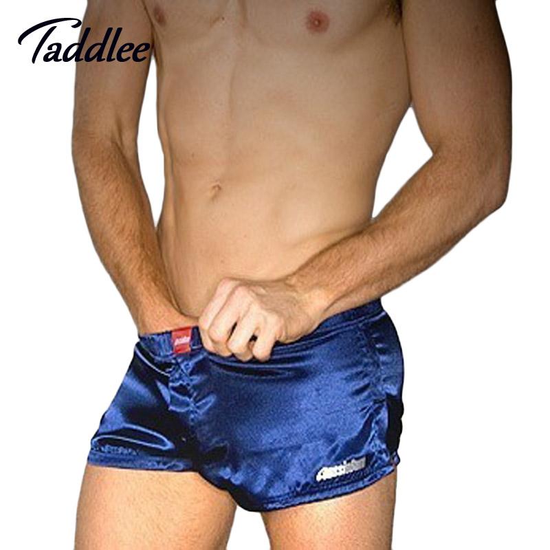 Men Underwear Brand Sexy Mens Underwear Penis Pouch Sleepwear artificial silk Men Boxer Trunks High-quality New Arrival 2016 Hot(China (Mainland))