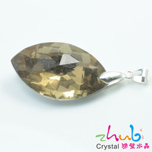 Leaf Shape Crystal Pendant Necklace Summer Style Alloy Tibetan Silver Chain Choker Chunky Necklaces & Pendants for Women