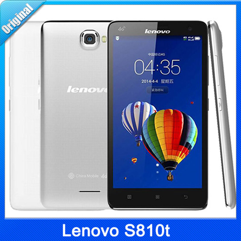 "Origina Lenovo S810t 4G TD-LTE Snapdragon Quad core Android 4.3 Mobile Phone 5.5"" IPS Screen 8.0MP 1GB RAM 8G ROM Google Play(China (Mainland))"