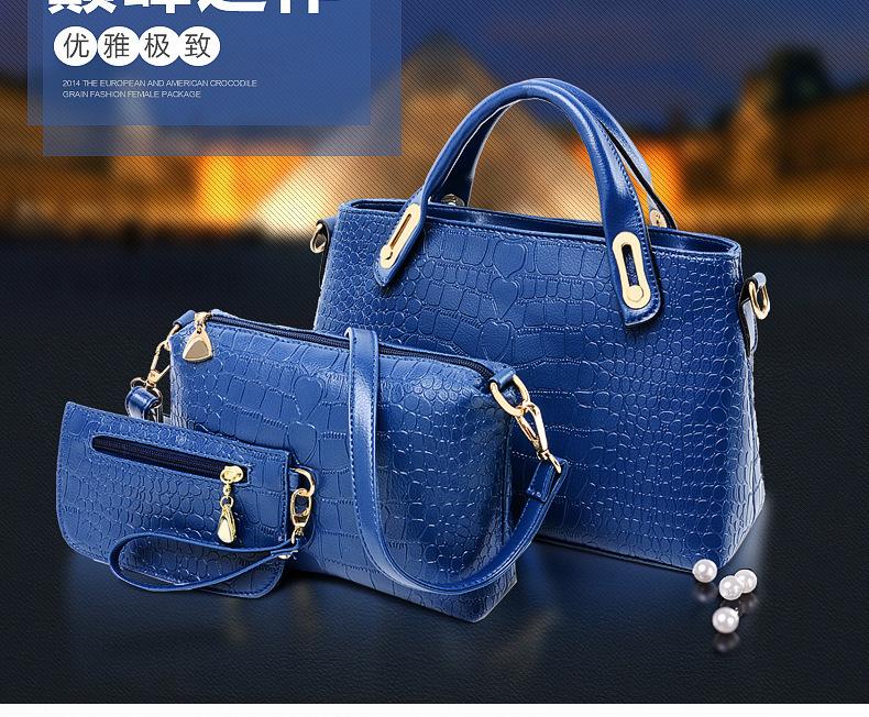 2014 New style Hot Brand casual bag handbag Best quality most popular Women handbags 3bags bolsa feminina Free Shipping