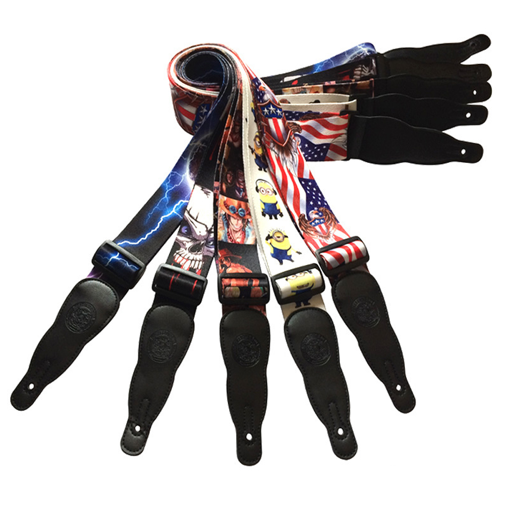 Acoustic Guitar Strap High Polyester Printing Personality Strap Electric Guitar Electric Bass Strap(China (Mainland))
