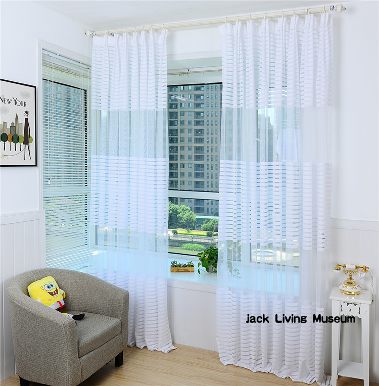 Free shipping,2015 new sheer curtains, organza series, white screens , light for the living room bedroom study,cortinas,tulle(China (Mainland))