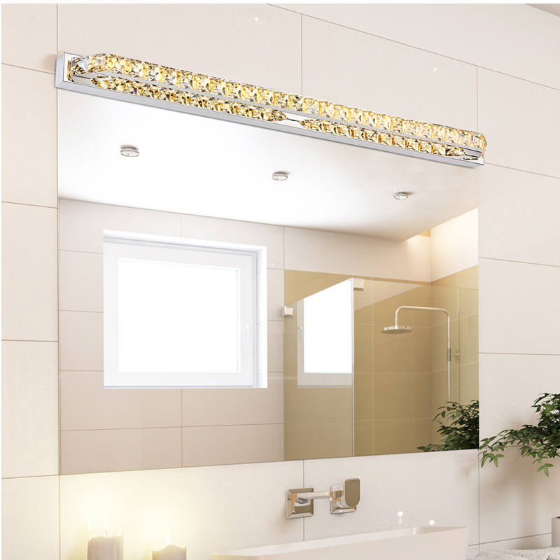 Modern LED Crystal Bathroom Mirror Sconces Light 23W Over Mirror Front Lights Lamp Bath Wall 87cm Super Long 110V / 220V AC(China (Mainland))