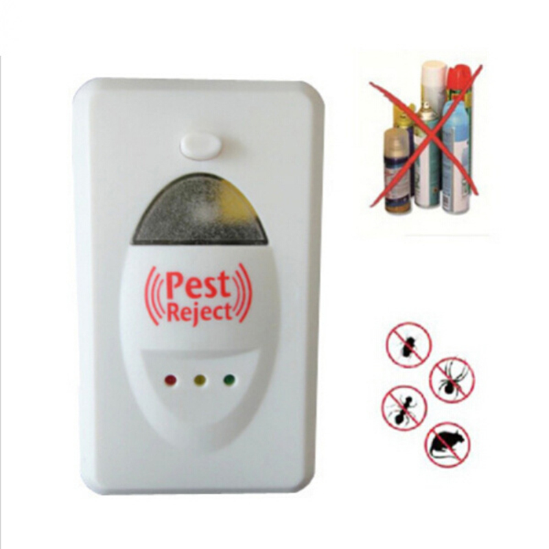 1 Pc 100% Effective Safe Ultrasonic Electronic Repels All Insects And Rodents Mosquitoes Rats Cockroaches Control Pest Repeller(China (Mainland))